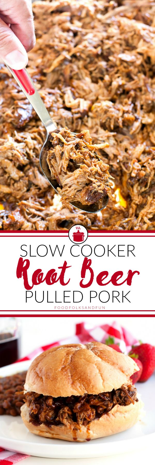 This Slow Cooker Root Beer Pulled Pork recipe is sweet, tangy, and completely delicious. It's perfect for entertaining, and the root beer barbecue sauce alone i