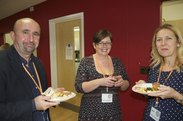Zoe our Cafe Supervisor with Tim and Karen, 2 of our longest-standing volunteers  - CringlefordHub