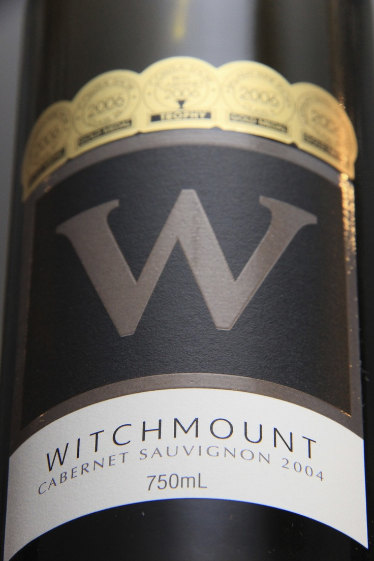 Wine labels.  Witchmount Estate, Rockbank Australia. 30mins from Melbourne.