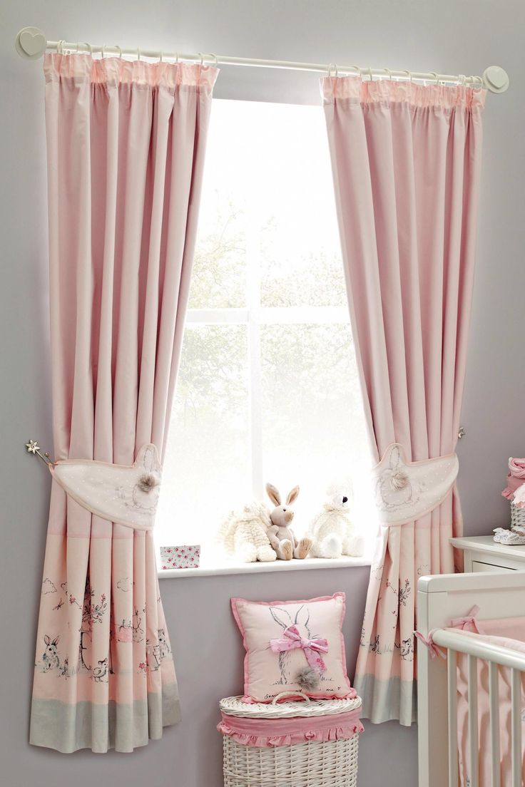 Curtains from next with grey and little bunnies amelia s room