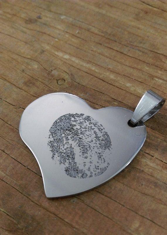 Fingerprint Love Heart Keepsake  Personalised by SewUnusualUK