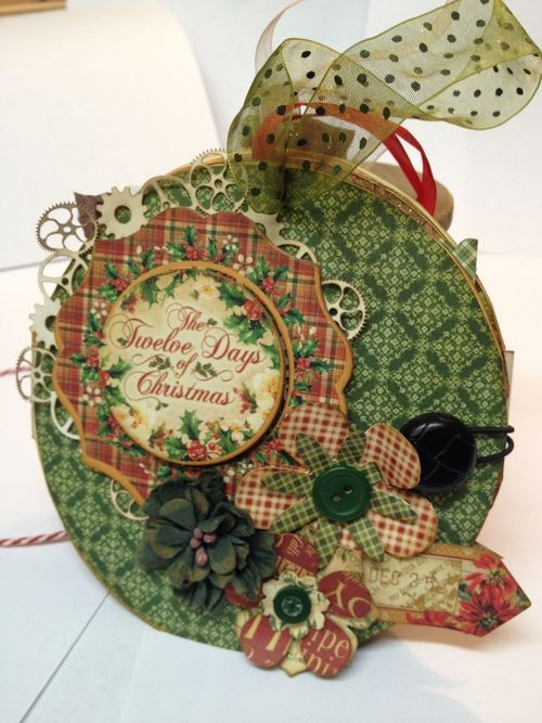 Day 7: This ornament by Denise Johnson double as a gift card holder! Beautiful and clever - check out the tutorial! #graphic45 #giftcardholder #12daysofgifttutorials
