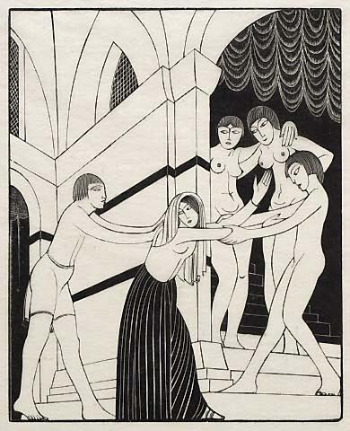 The harem 1929 Eric Gill