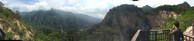 Panorama view of Jangsudae, Seolak mountain in South Korea