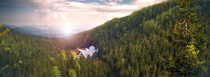 sky, forest, mountains  www.jeleniastruga.pl