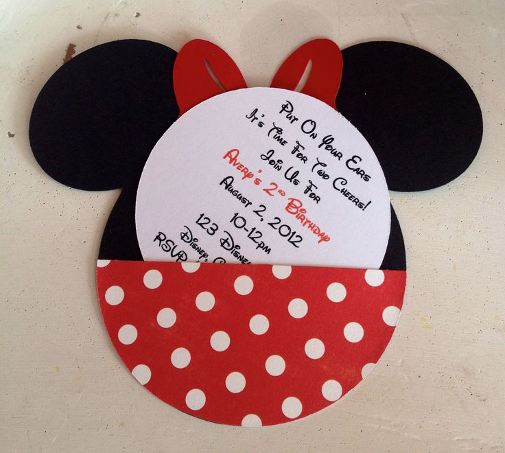 Best Minnie Mouse Birthday Invitations Ideas On Pinterest - Handmade birthday invitation card ideas