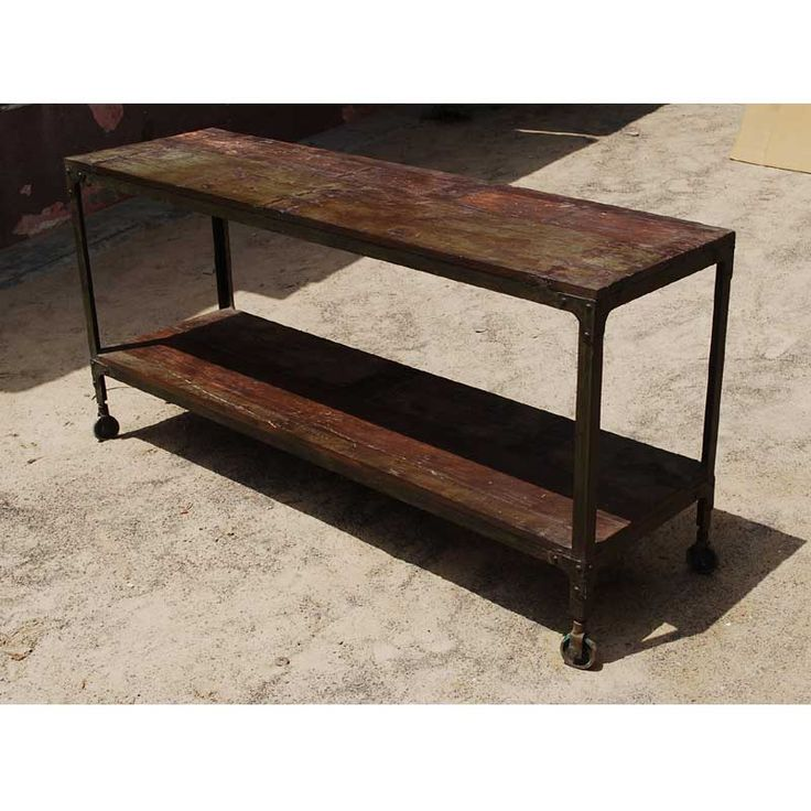 iron industrial furniture. the appalachian rustic industrial wood u0026 metal rolling table built with solid hard and weathered iron this modernistic piece is handmade furniture n