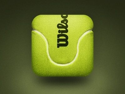 Tennis Ball Mobile App Icon by Mike Beecham. 25 Clever Mobile App Icons #icons #mobile #app #design #inspiration