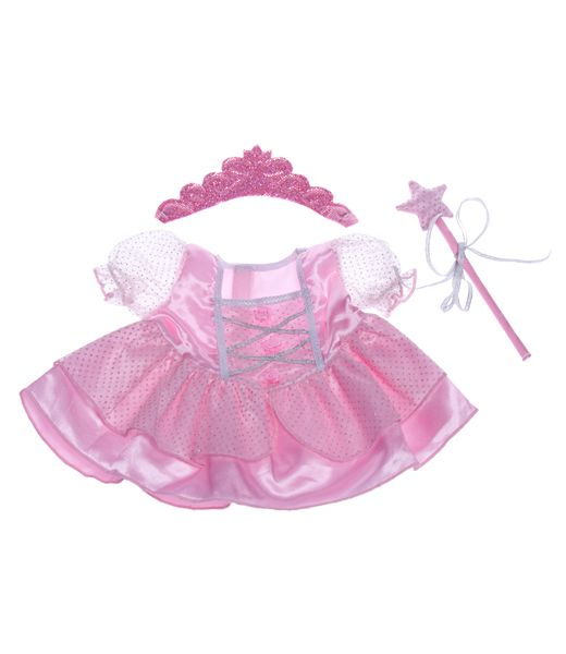 This is one of our most popular Items It fits any 40cm teddy bear.  Fairy Princess Dress w/Wand and Tiara.