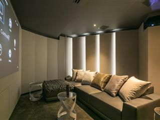 Out of Shape Room Becomes Perfectly Fit Home Theater