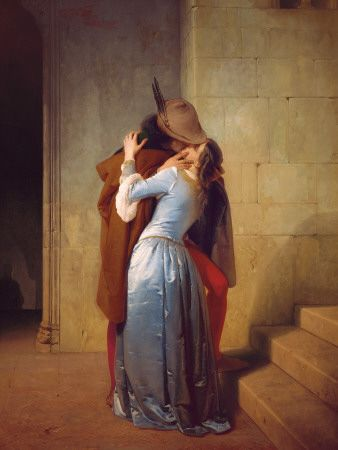 ll Bacio by Francesco Hayez, c. 1859. Art print from Art.com. (Original: oil on canvas).