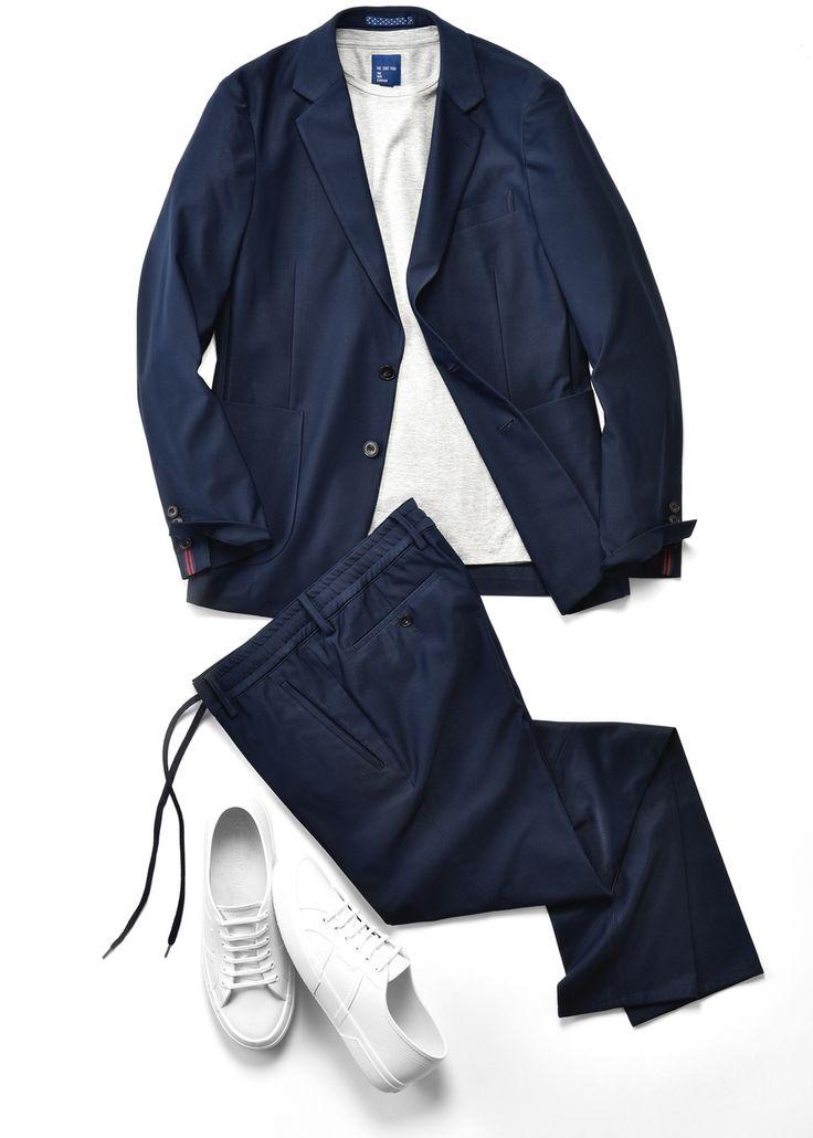 スーツをファッションとして着こなしたいすべての人へ向けて、多様なスタイルを編集し自由なスーツを提案する「WE SUIT YOU」。飛び抜けた機能性と都会的なデザインをベースに、従来のビジネススーツスタイルから、カジュアルスタイルまで幅広く対応できる懐の深さが人気の理由だ。 スーツ×スニーカースタイルにも最適な「WE SUIT YOU Comfort biz シリーズ」 昨今、メンズファッションにおいてトレンドとなっているスーツにスニーカーをあわせてカジュアルダウンしたコーディネート。手持ちのスーツでは対応しにくいと感じている男性も多いのでは?WE SUIT YOUが展開するセットアップスーツの中でもとりわけ、「Comfort biz」 シリーズはスニーカーやTシャツとの相性抜群だ。 スポーツミックスやアスレジャーなどトレンドコンシャスなキーワードを掲げる同シリーズを象徴するのが「JAPAN QUALITY ジャージージャケット」と「JAPAN QUALITY ジャージーイージーパンツ」である。…