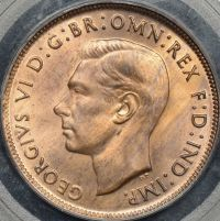 Equal finest graded PCGS MS66RB 1948 Penny AUD$1450