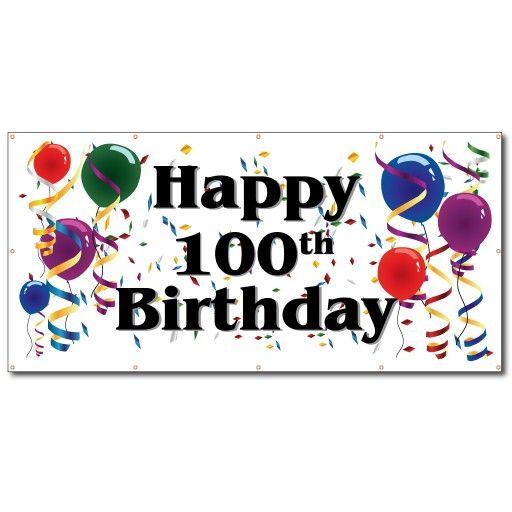 Happy 100th Birthday Vinyl Banner