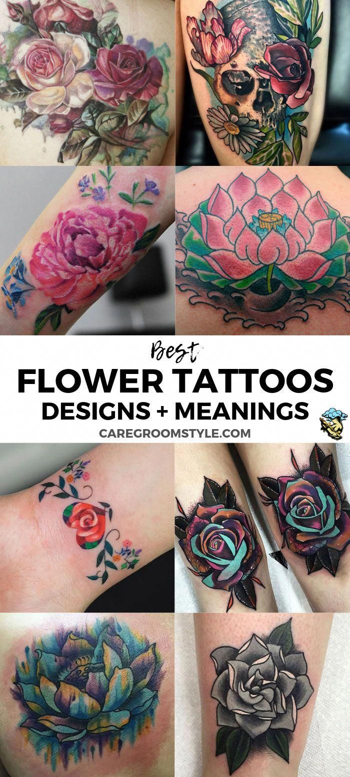 88 Best Flower Tattoos On The Internet: Popular Flower Tattoo Designs And