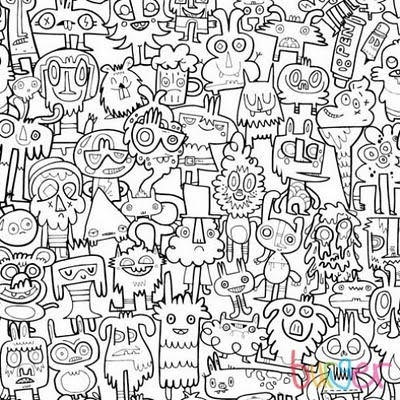 Coloring book wall paper