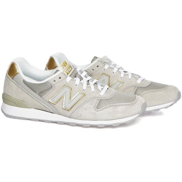 New Balance WR996HA beige sneakers ($97) ❤ liked on Polyvore featuring shoes, sneakers, beige sneakers, new balance shoes, new balance trainers, new balance and new balance sneakers