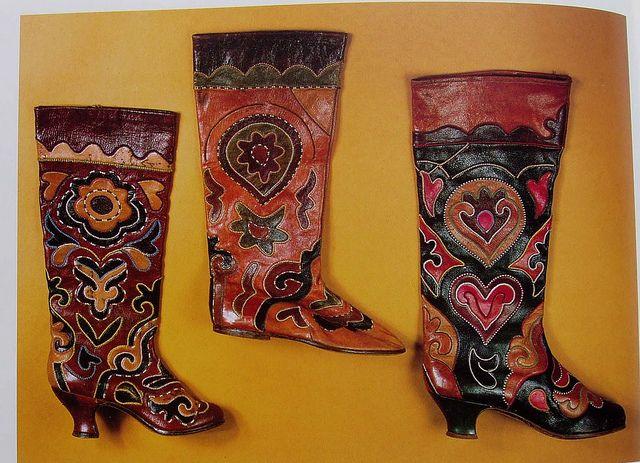 Russian folk boots