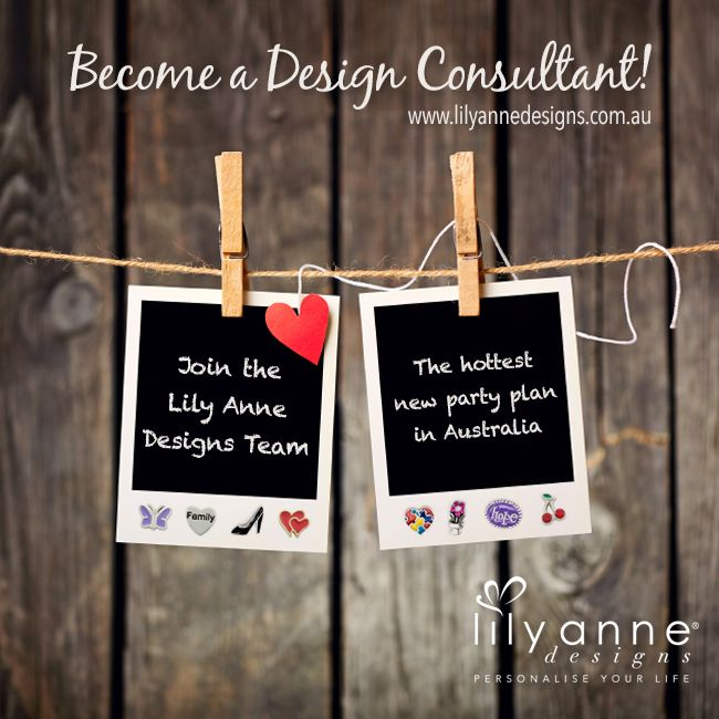 {Become a Design Consultant!}  Join the Lily Anne Designs Team!   http://www.lilyannedesigns.com.au/join-our-team.html  We have created a business that has everything you need to launch your very own Lily Anne Designs business including jewellery, order forms, price cards & price lists.