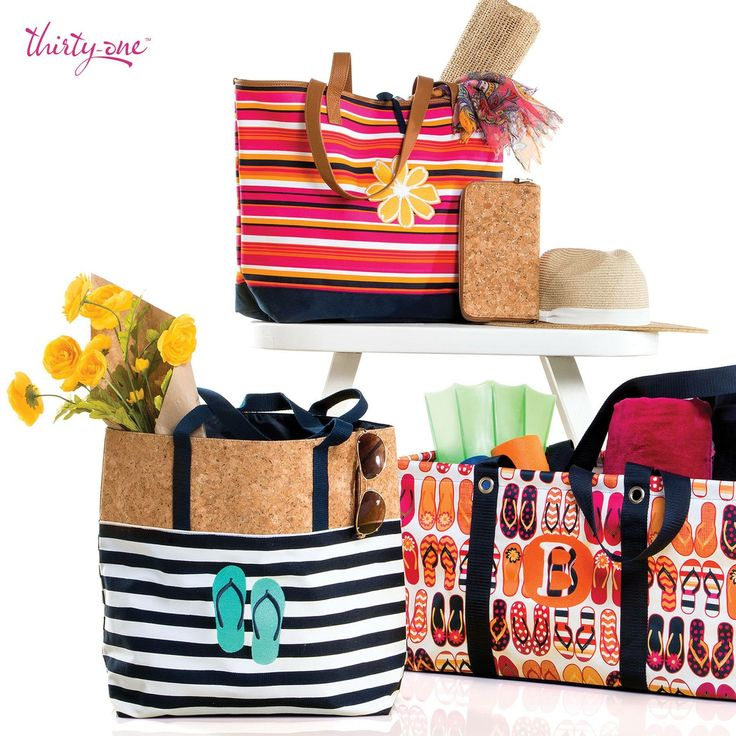 Thirty-One Summer Style Guide Essentials! That new Fun Flops Large Utility Tote is the best!!! Beach bags and summer vacations here we come! www.thebagdealer.com