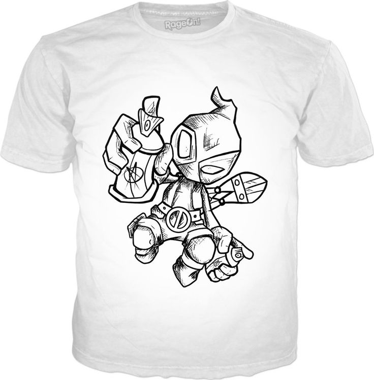 Graffiti Super Hero DP deadpool tshirt