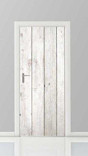 Cool, simple and low budget idea for your door. Deursticker - 18820120 Staand posterwand.nl