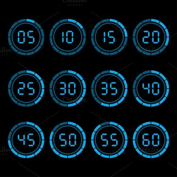 Check out Digital countdown timer by Vector Shop on Creative Market