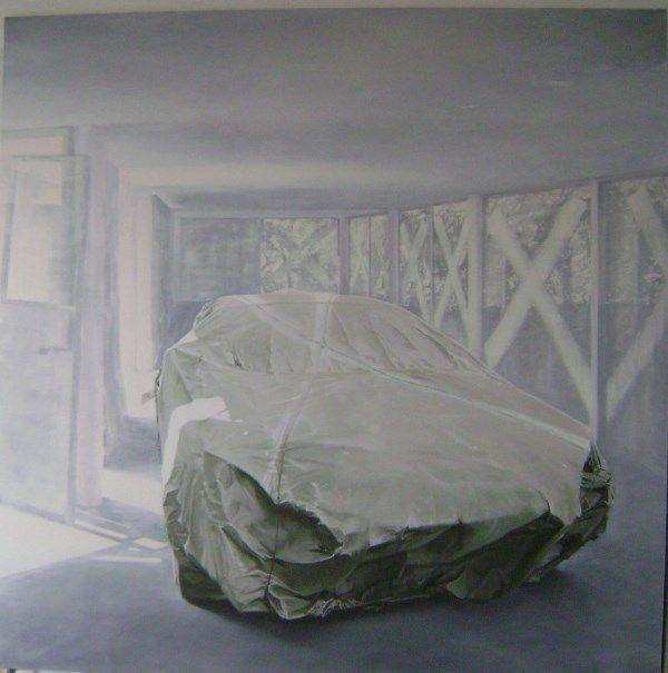 Artist: Zoltán Béla - Spectre (2012), 200 x 200 cm, oil on canvas