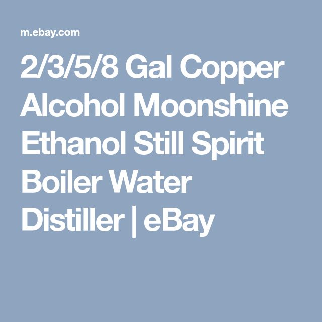 2/3/5/8 Gal Copper Alcohol Moonshine Ethanol Still Spirit Boiler Water Distiller | eBay