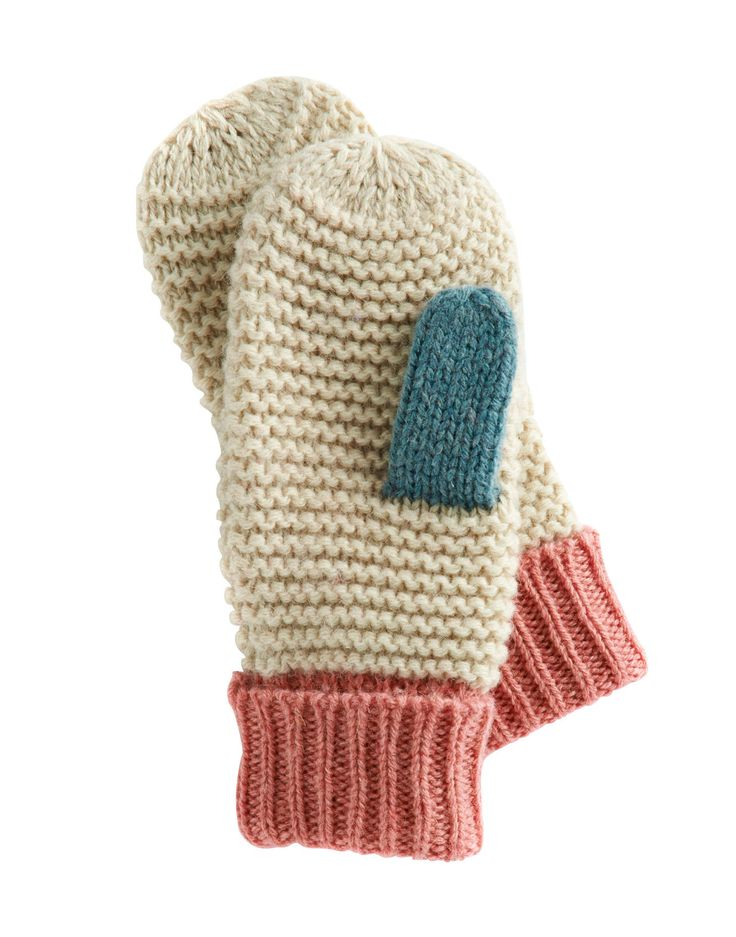 Creme Mablemitten Womens Knitted Mitten , Size One Size -8557