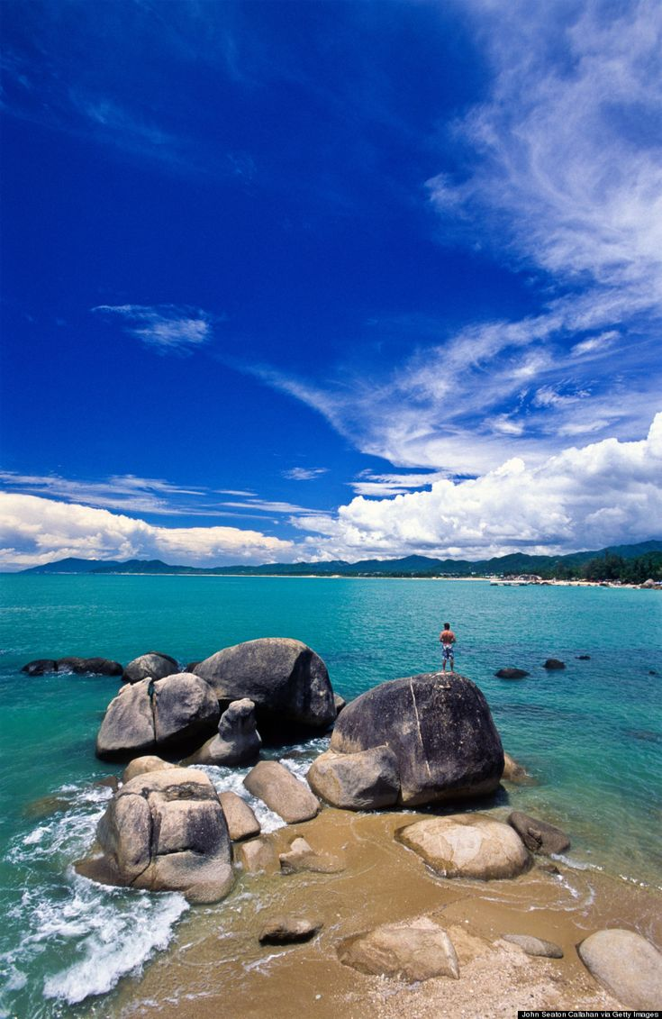 Roughly 34 natural hot springs dot the island, and a whopping 61 percent of its area is tropical rainforest. Sanya, a city in the south, is home to sandy beaches and bays