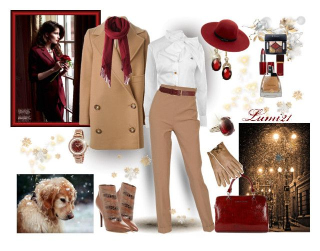 camel by lumi-21 on Polyvore featuring Vivienne Westwood, STELLA McCARTNEY, Hermès, B Brian Atwood, Armani Jeans, Sidney Garber, Ted Baker, Anne Klein, Kate Spade and Barneys New York