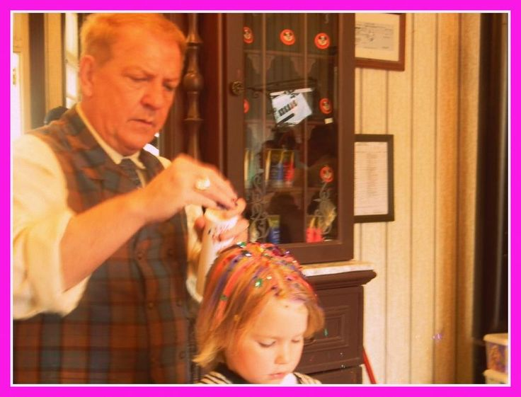 Should You Get a Haircut at Walt Disney World? For $20, with Pixie Dust and Stickers, Yes!  And it's a lot cheaper than the full-blown pirate or princess makeovers!