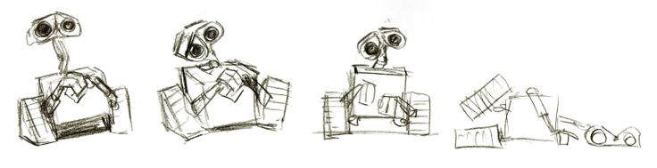 Pixar Character Design Tips : Character sketch from pixar s quot wall e all things