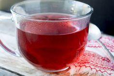 Chá de hibisco com canela e gengibre