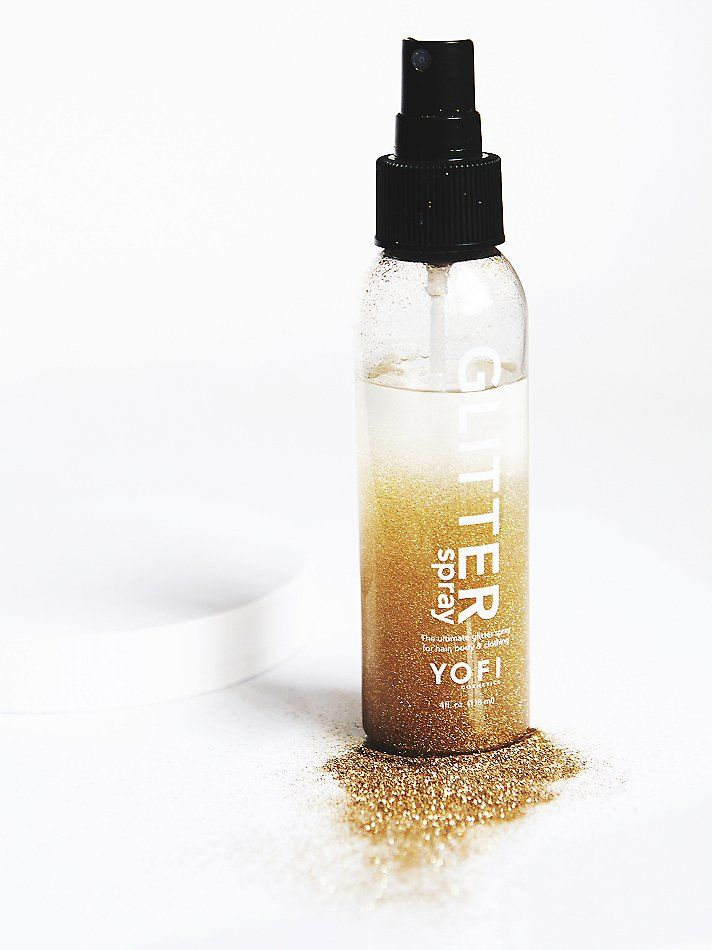 Hair Glitter Spray | A little spritz of glitter can surely make anything better.  This non-aerosol glitter spray can be used on your hair, body or clothing and easily washes out.