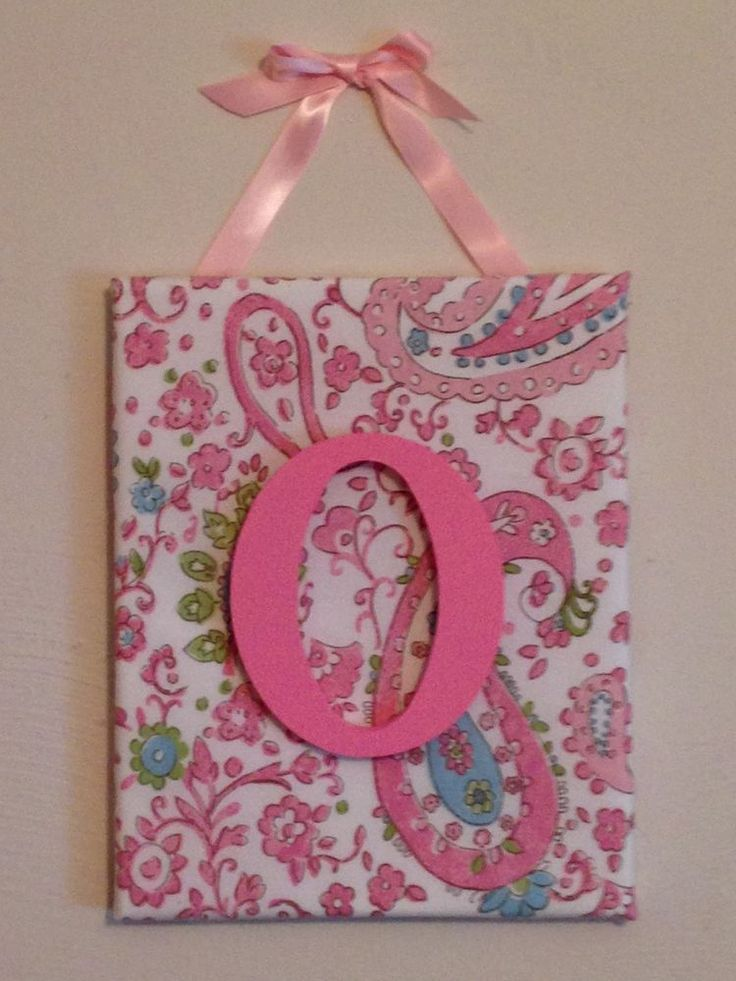 Personalized Initial Brooklyn Pink Paisley Wall Hanging M2M Pottery Barn Kids
