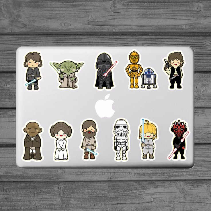 Star Wars 11 Classic Characters Laptop Stickers for Apple MacBook  Partial Decal Air Pro Retina Mac Notebook Skin Sticker