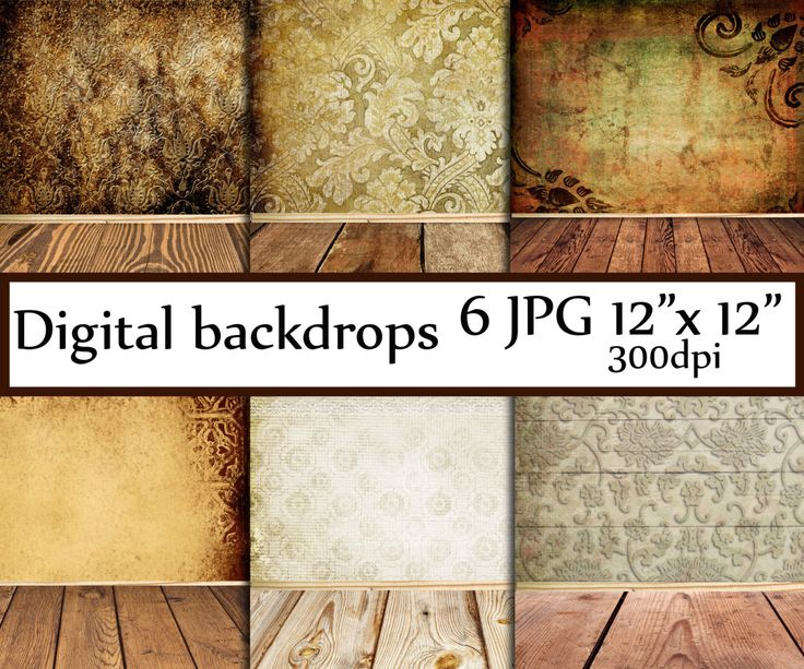 Digital Backdrop room: DIGITAL BACKDROP Vintage background Shabby Chic wood Photo backdrop Vintage photo Backdrop Wood textured backdrop You will receive: - 6 digital papers - 12x12 inches - JPG format - High resolution (300dpi) * * * * PRINT THEM AS MANY TIMES AS YOU LIKE * * * * *