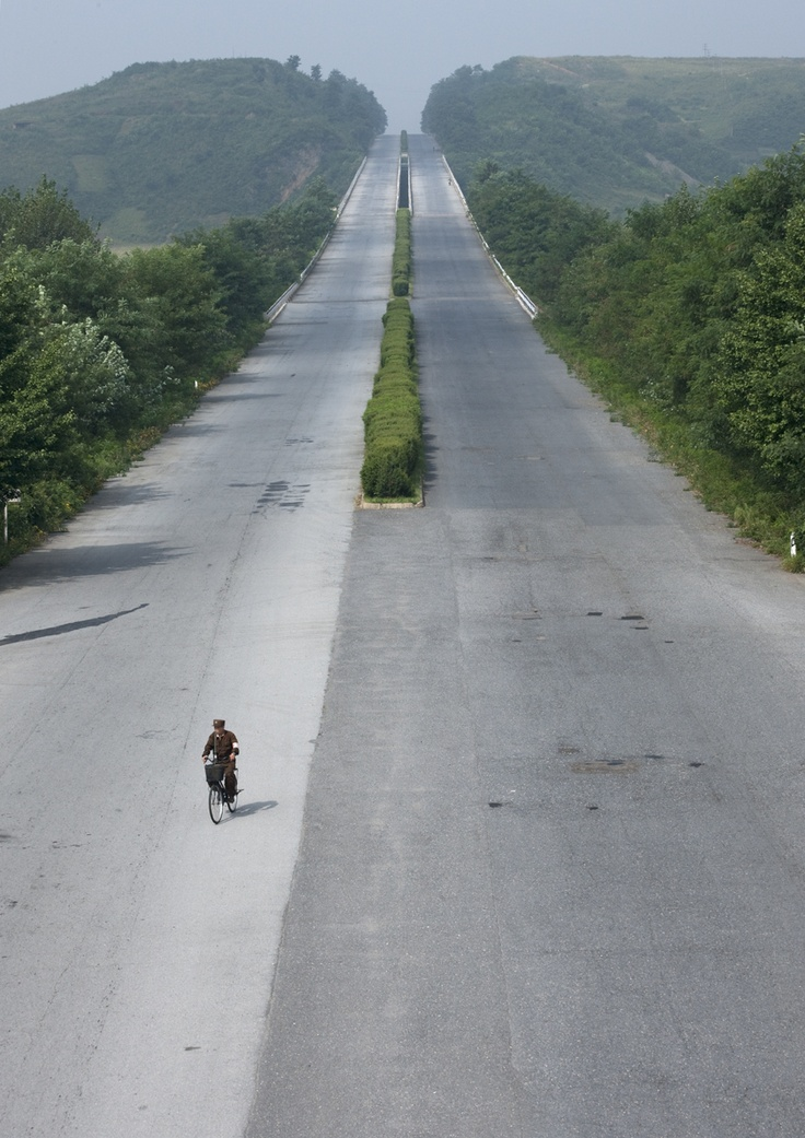 north korea highway | by ERIC LAFFORGUE: Photos, Winding Road, Bike, Korea Highway, North Korea, Eric Lafforgue, Photography, Roads