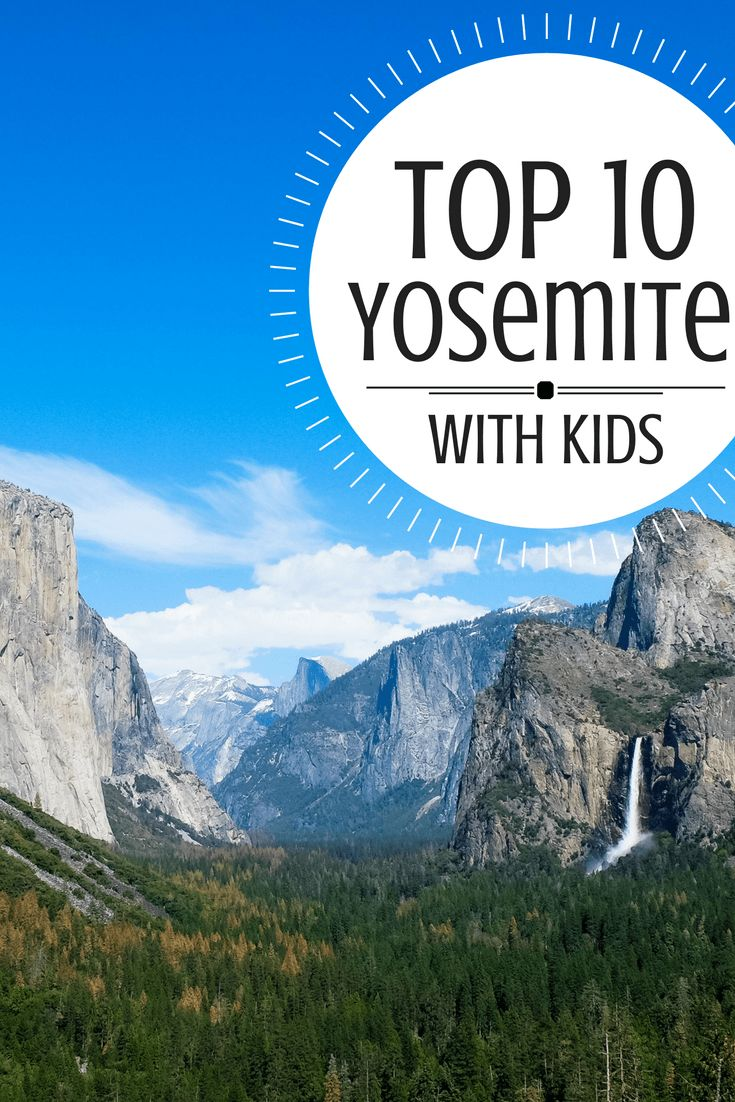 Yosemite National Park is one of the most family-friendly parks in the US - and here are the top 10 things to do with kids! #trekarooing via @trekaroo