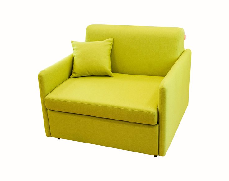 Trust Extensible Armchair / Color: Lime #armchair #extensible #comfort #cozy #smallspace #spacesaver #realmattress #goodsleep