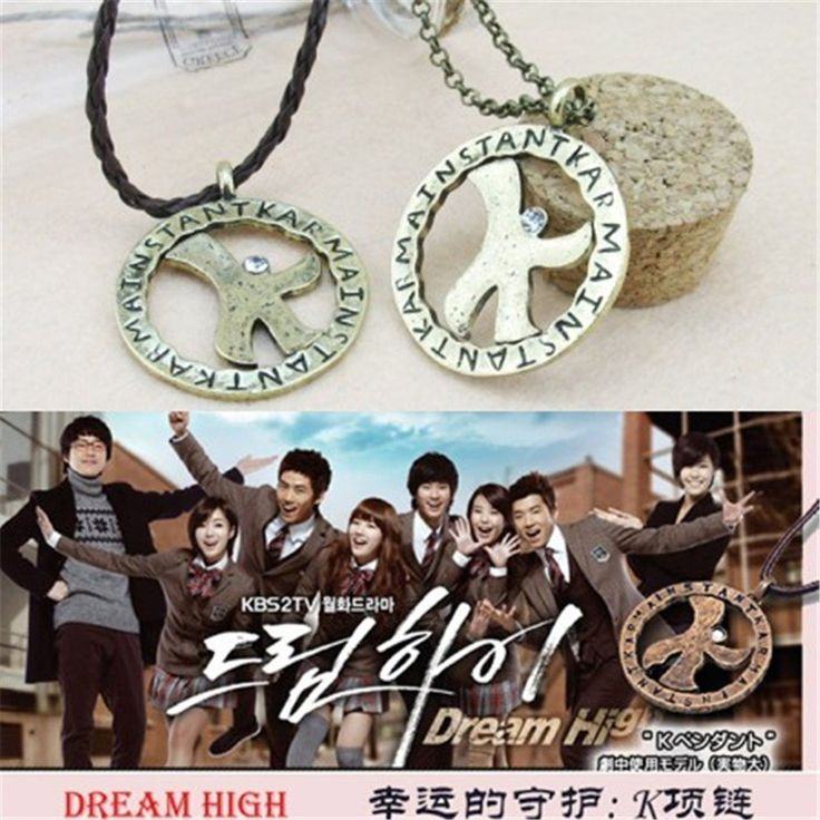 DREAM HIGH Korean Drama Instant Karma Popular Lucky K Necklace #DREAM #HIGH #Korean #Drama #Instant #Karma #Popular #LuckyK #Necklace #KidolStuff