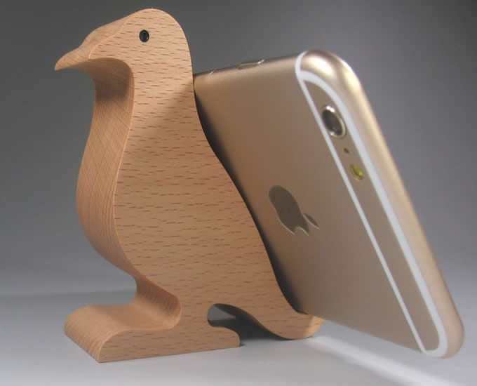 Cute Wooden Bird Wooden Cell Phone Mount Holder Universal For Ipad For Samsung Smartphone Desk Stand Tablet Holder Stands Mobile Phone Holders & Stands