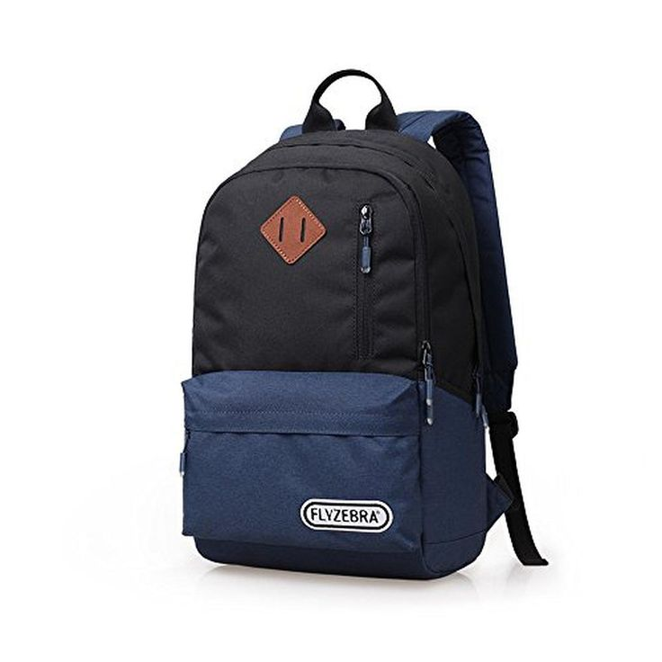 Flyzebra® FBB0011 Lightweight Laptop Backpack Unisex Leisure Travel Hiking Daypack Tablet School Bags Dark Blue - Brought to you by Avarsha.com
