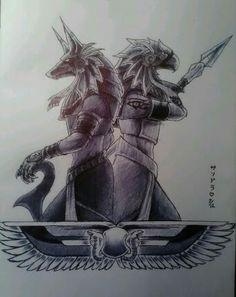 Anubis e Hórus
