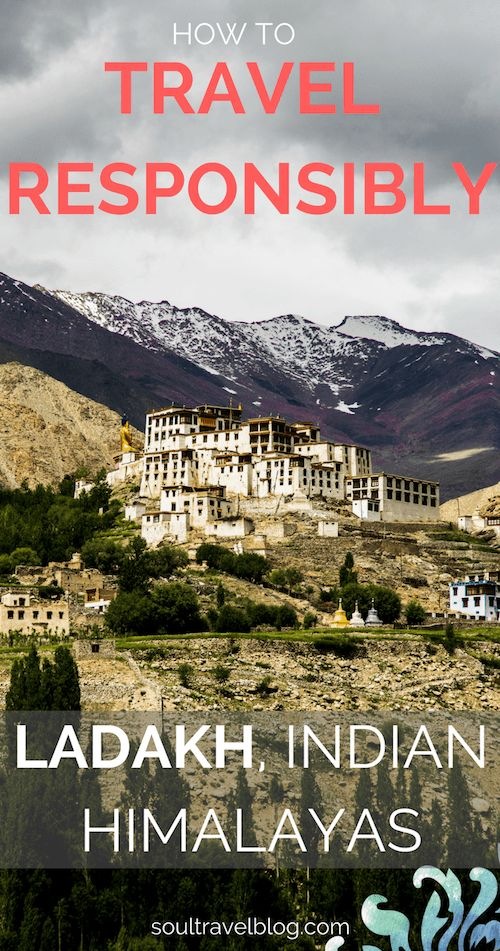 Thinking of travel to Ladakh, India? Here's how to travel to Ladakh and protect the environment: with top responsible travel tips, eco friendly places to stay and more! Pin this post to one of your boards for later!