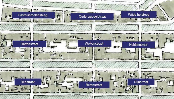 Kaart van de 9 straatjes in Amsterdam