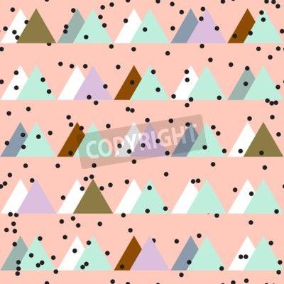Seamless vintage abstract pattern with triangles in the style na obrazech myloview. Nejlepší kvality fototapety, myloview sbírky, nálepky, obrazy, plakáty. Chcete si vyzdobit Váš domov? Pouze s myloview!