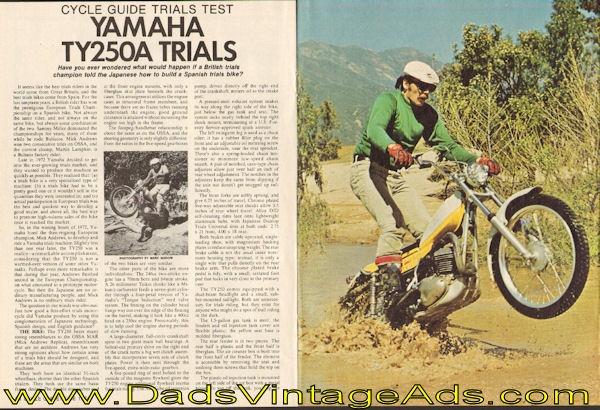 1974 Yamaha TY250A Trials Test